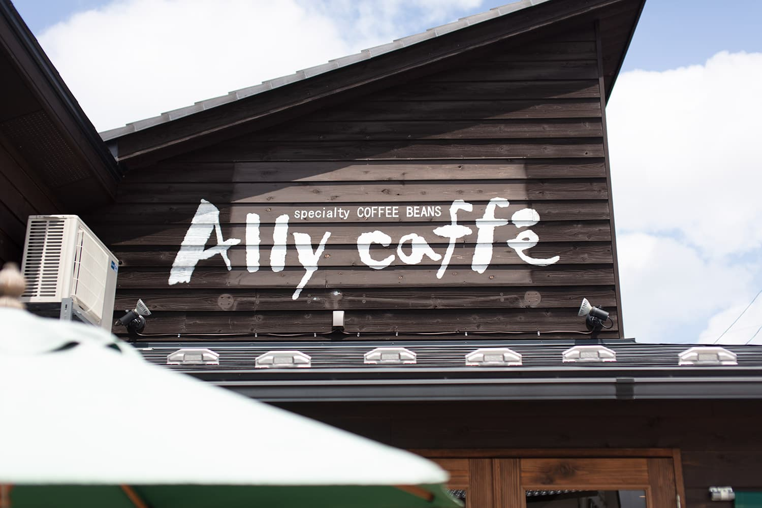 Ally cafe 店外サイン